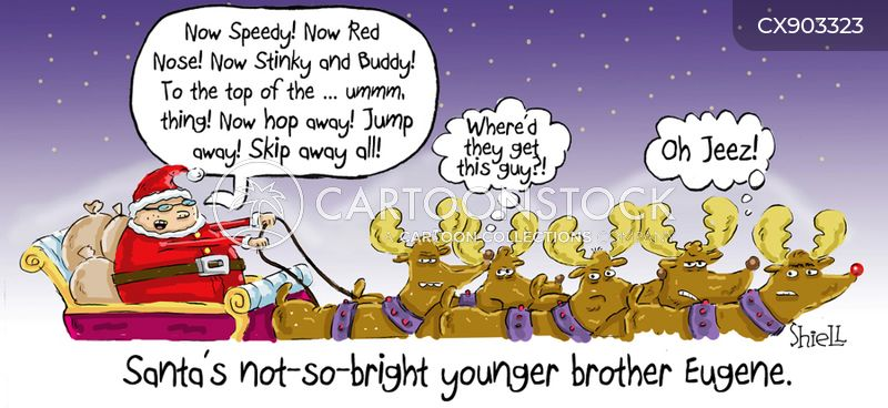 sleigh cartoon