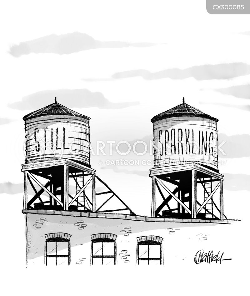water tower cartoon