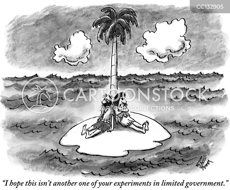 desert island cartoon