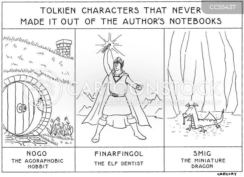 j.r.r. tolkien cartoon