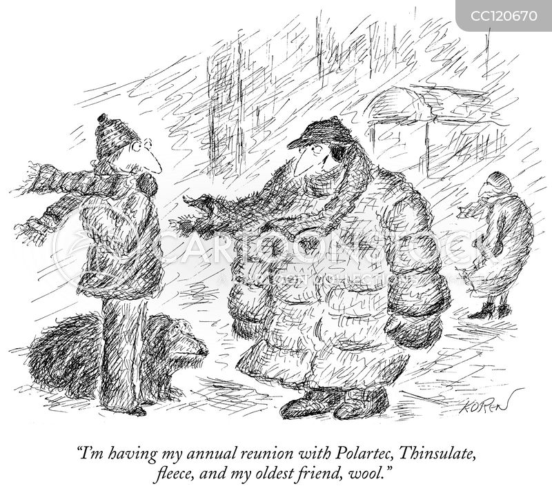 warm coats cartoon