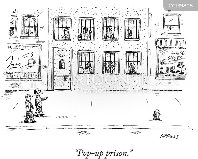 Private Prisons cartoon