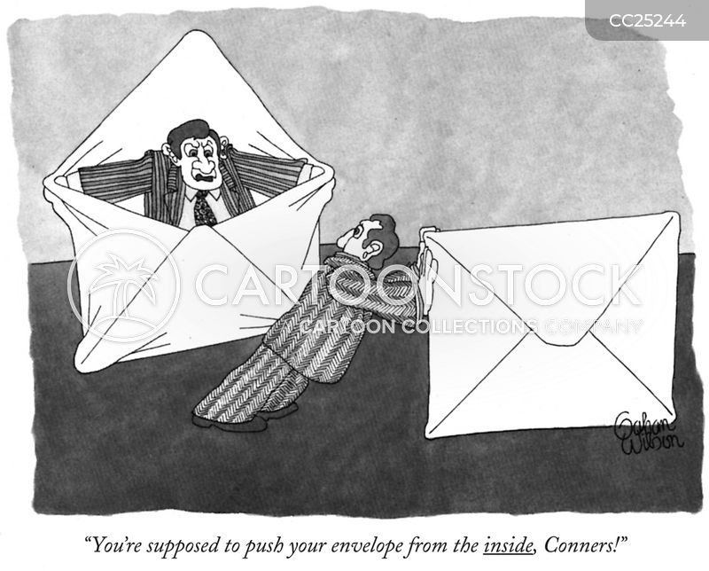 envelope cartoon