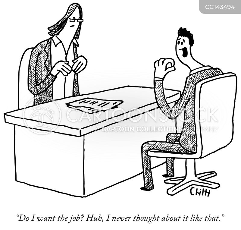 job offers cartoon