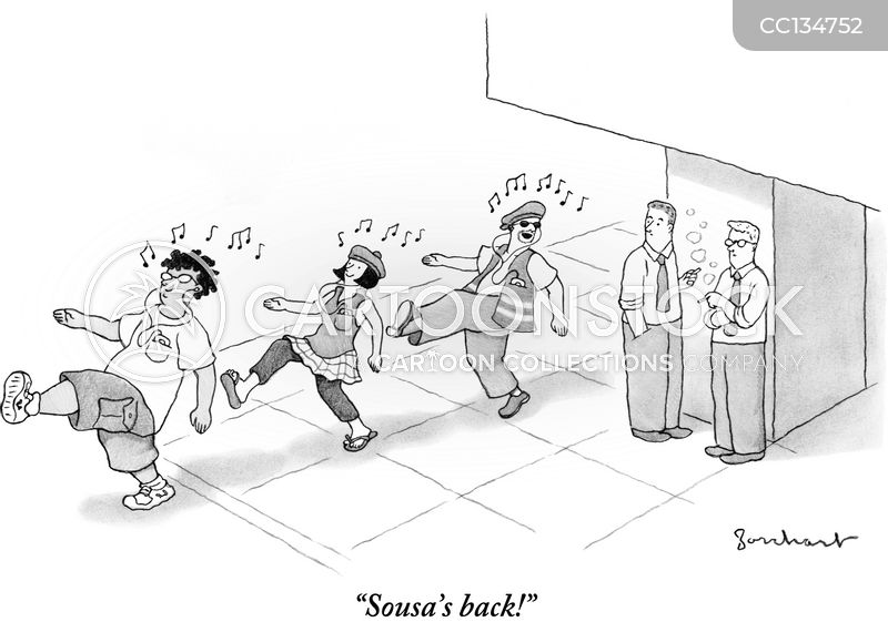 John Philip Sousa cartoon