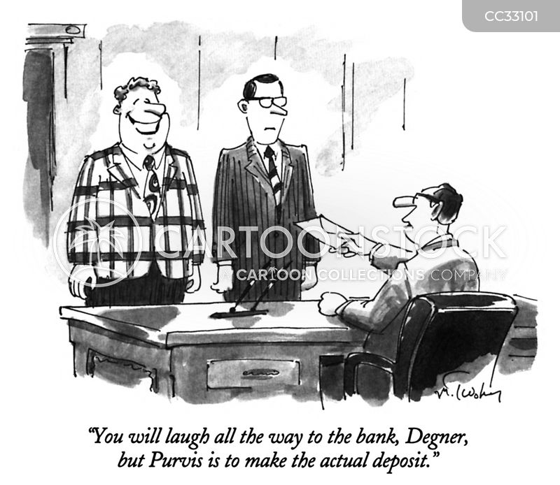 laughing all the way to the bank cartoon