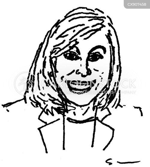 tv presenter cartoon