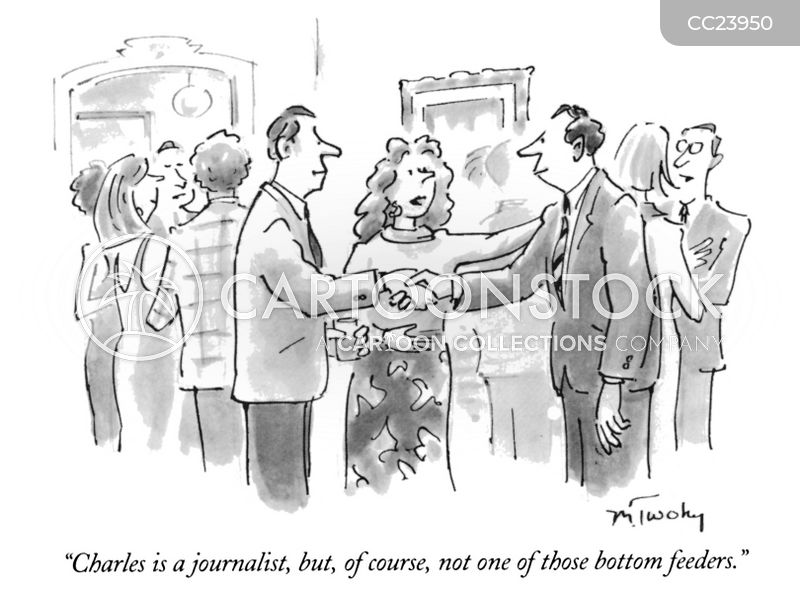 reporter cartoon
