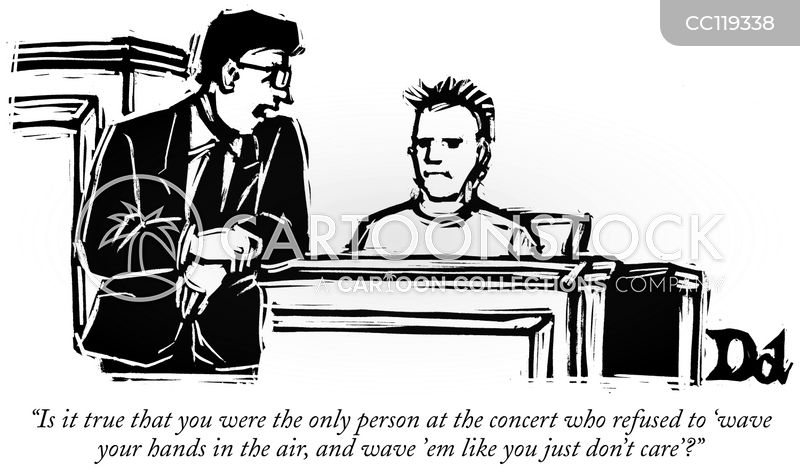 on trial cartoon