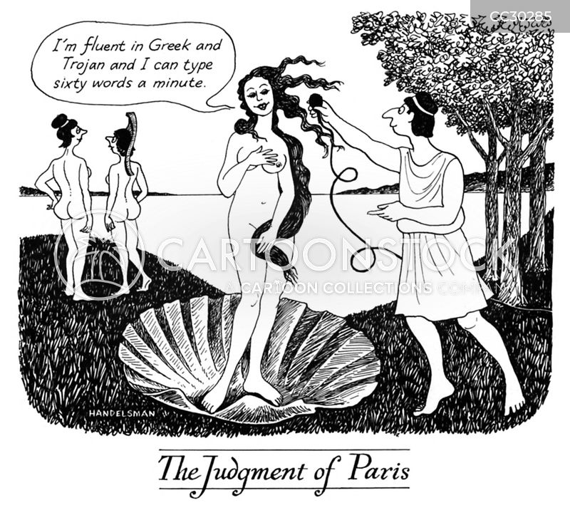 judgment of paris cartoon