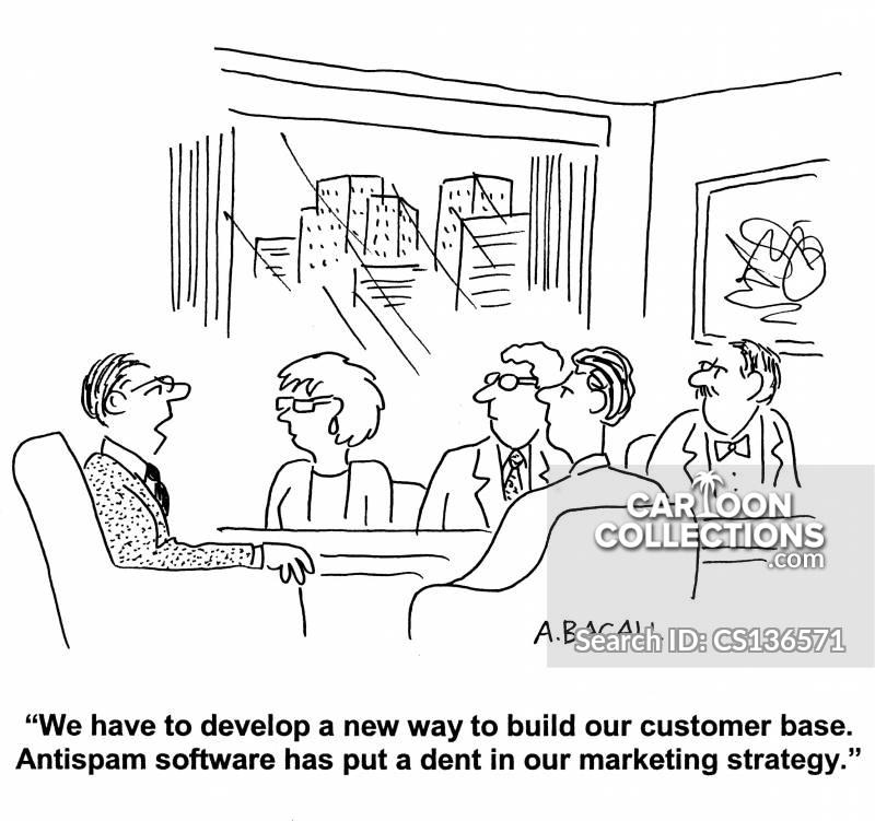 anti-spam software cartoon