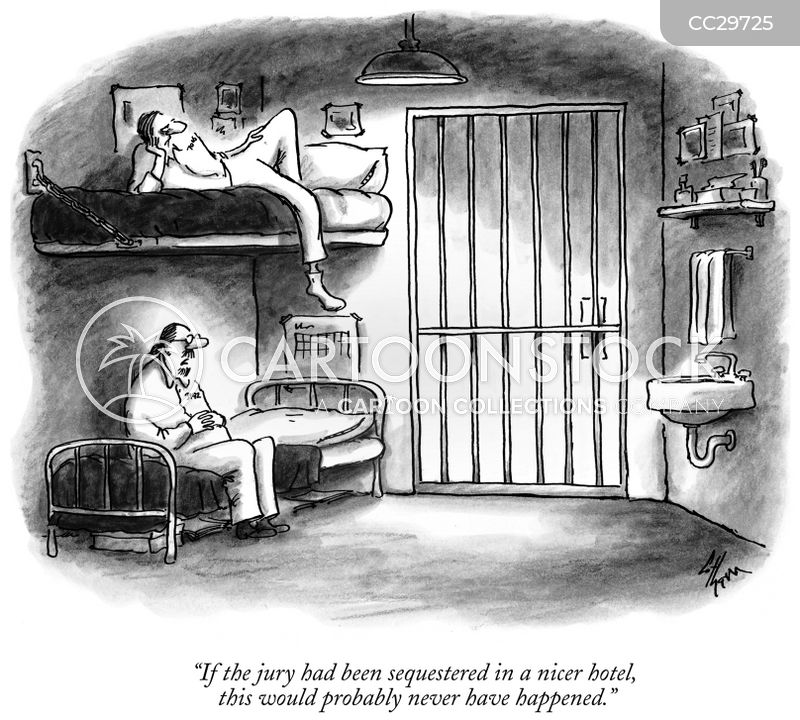 jail sentence cartoon