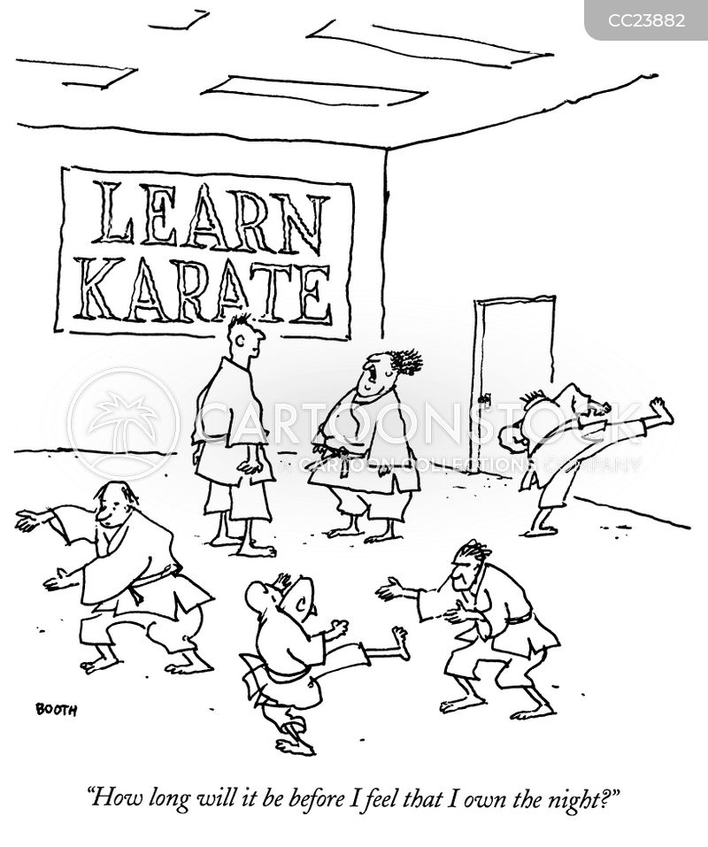 Karate Class cartoon