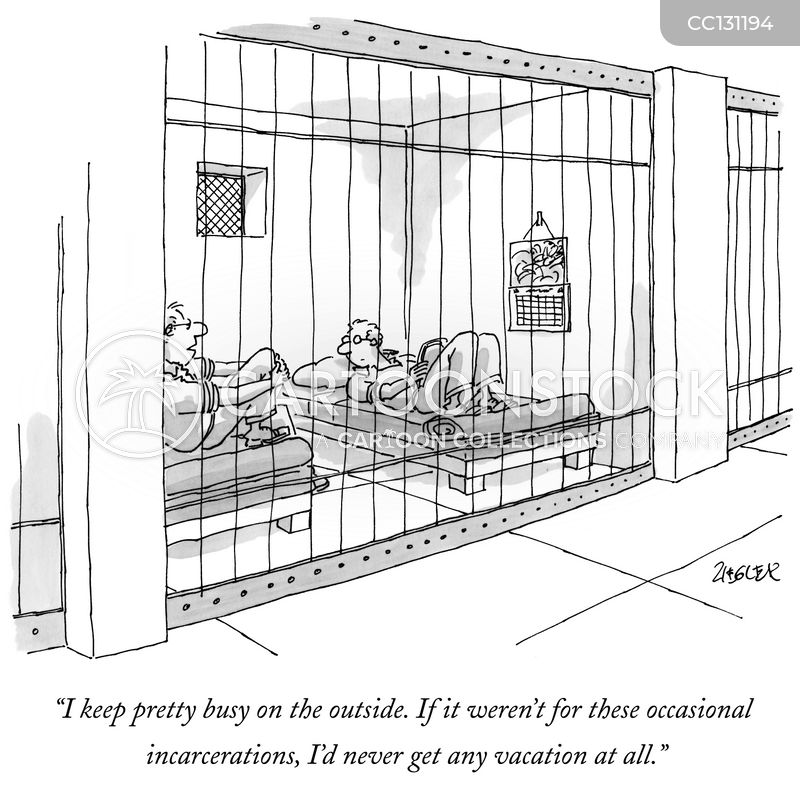 jailed cartoon