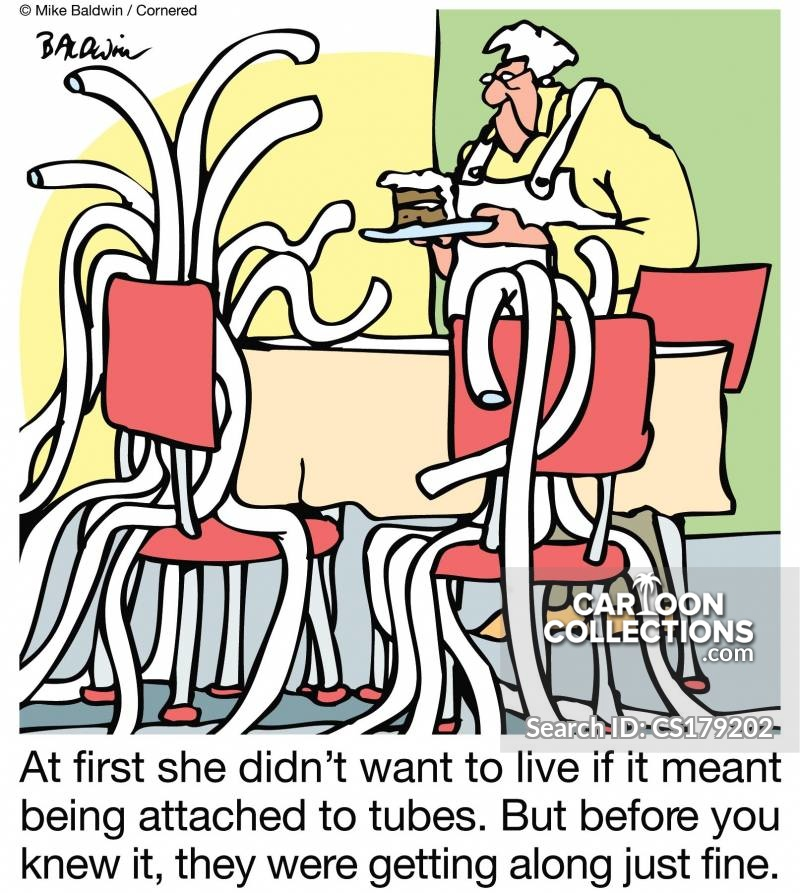 kept alive by machines cartoon
