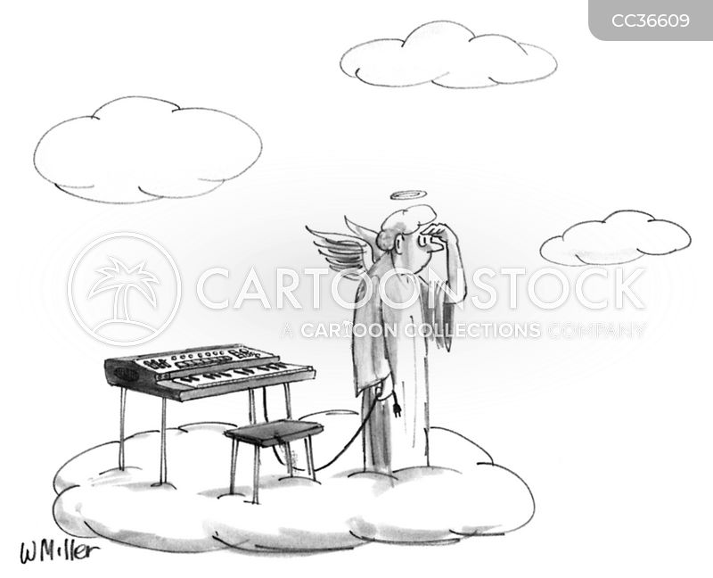 Keyboard Artist cartoon