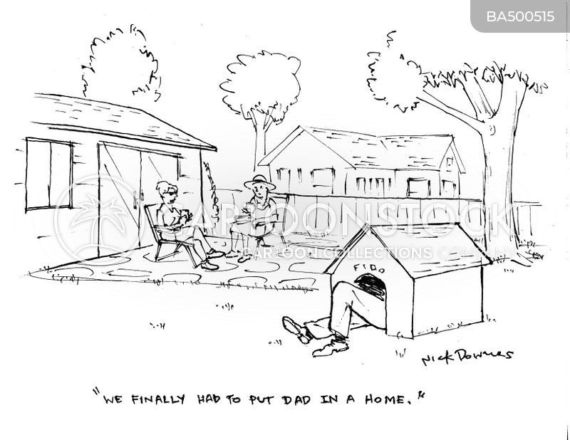 old age home cartoon
