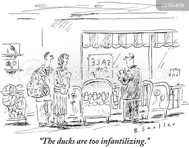 infantilizing cartoon