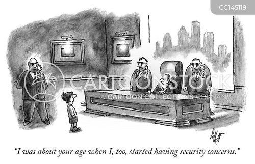 intimidated cartoon
