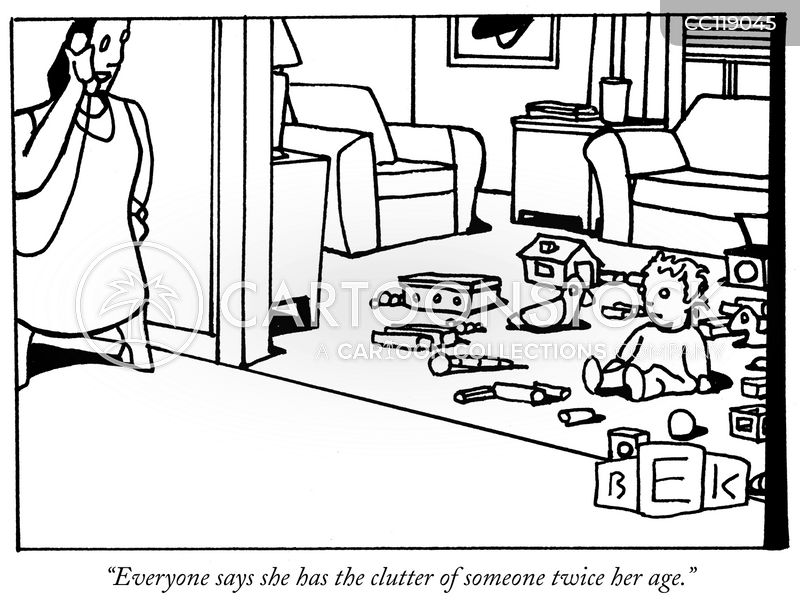 compulsive hoarding cartoon