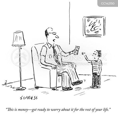 money troubles cartoon