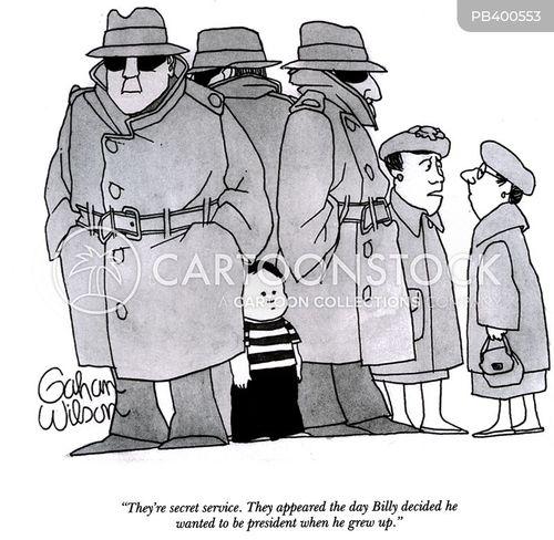 secret service cartoon