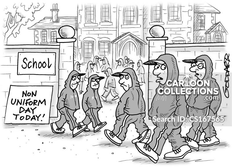 non-school uniform day cartoon