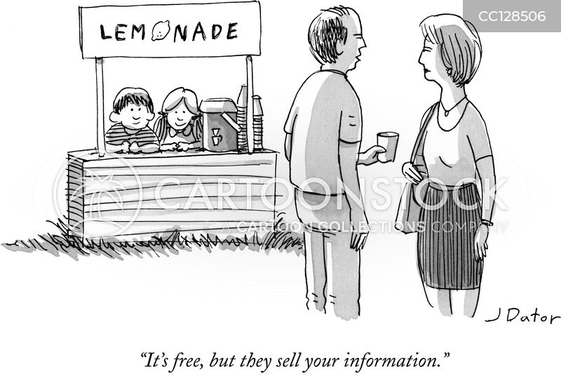 personal privacy cartoon