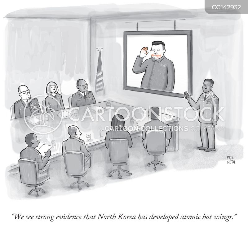 North Korea cartoon