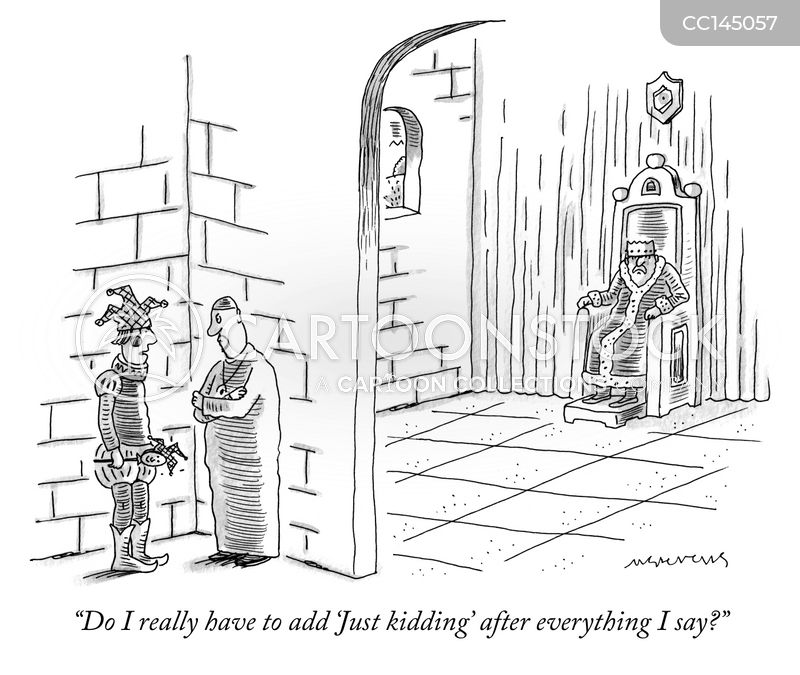 court jester cartoon