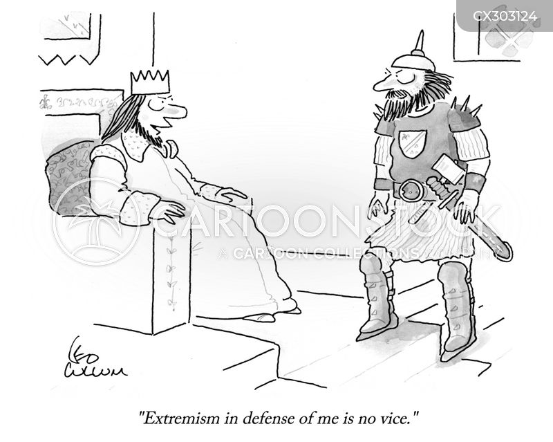extremist cartoon
