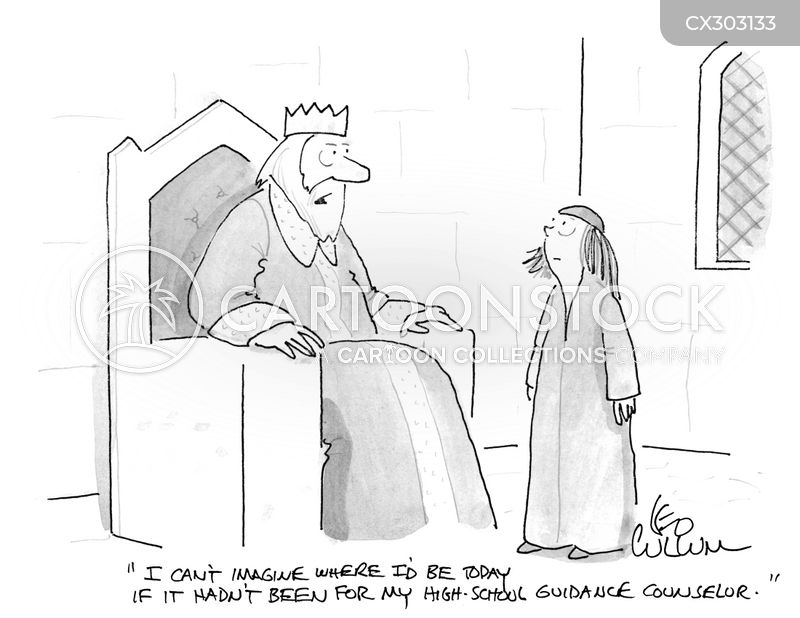 career adviser cartoon