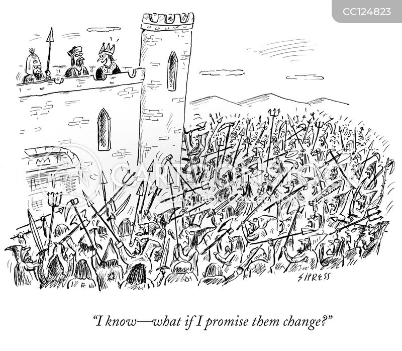 political promises cartoon