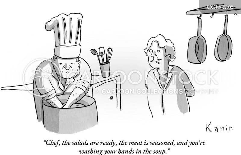 meal preparation cartoon