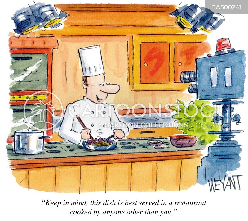 preparing food cartoon