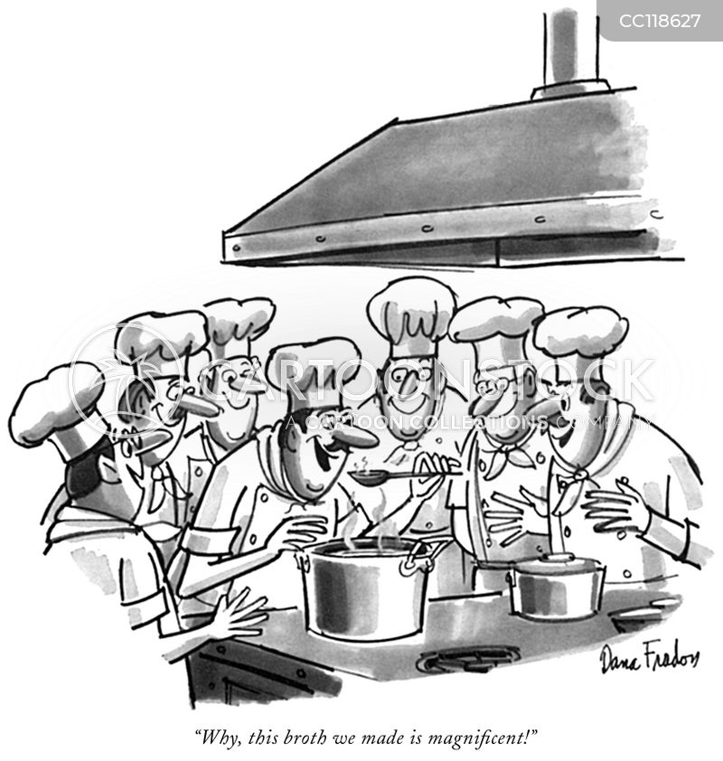 too many cooks spoil the broth cartoon
