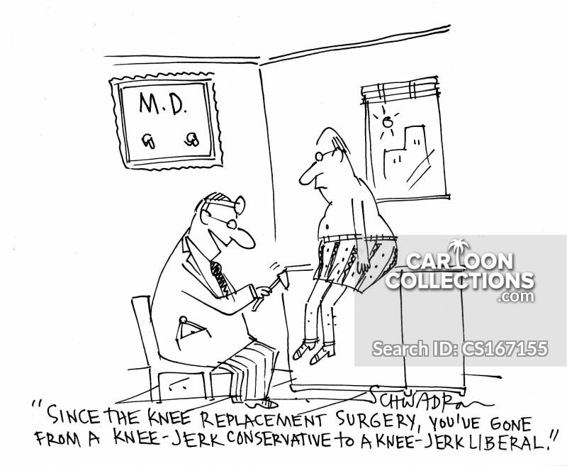 knee-jerk cartoon