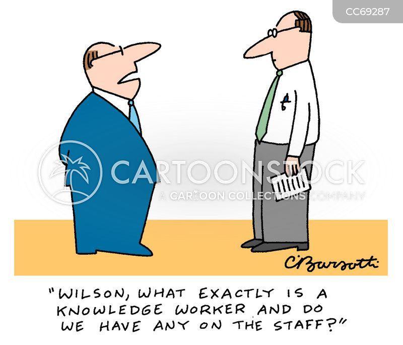 knowledge workers cartoon