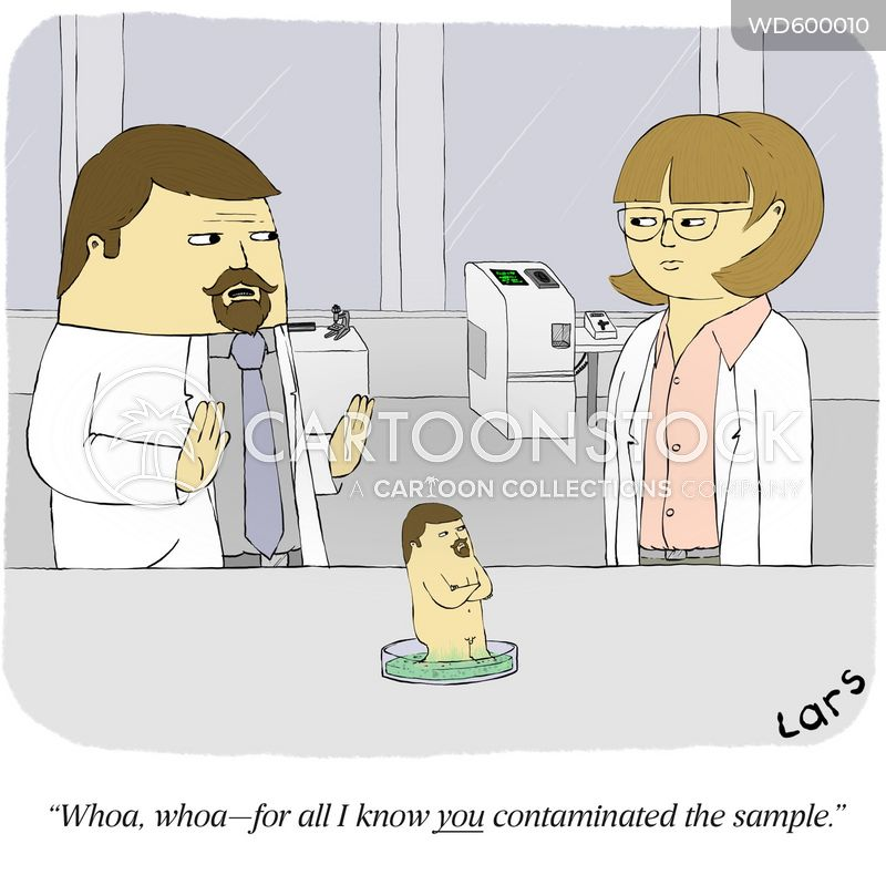 contaminated cartoon