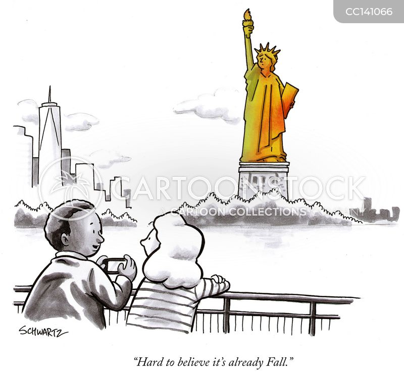 lady liberty cartoon
