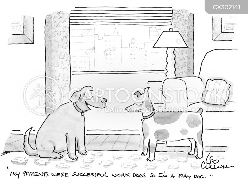 work dogs cartoon