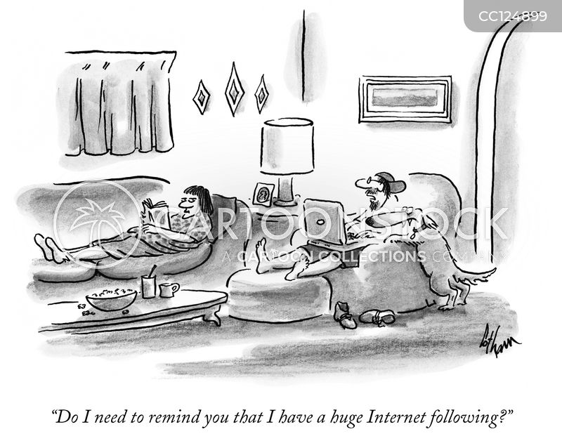 social networking cartoon