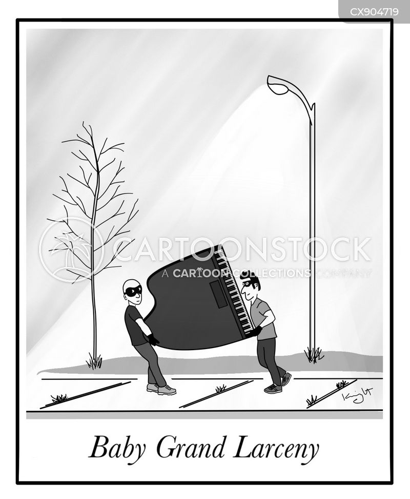 grand pianos cartoon
