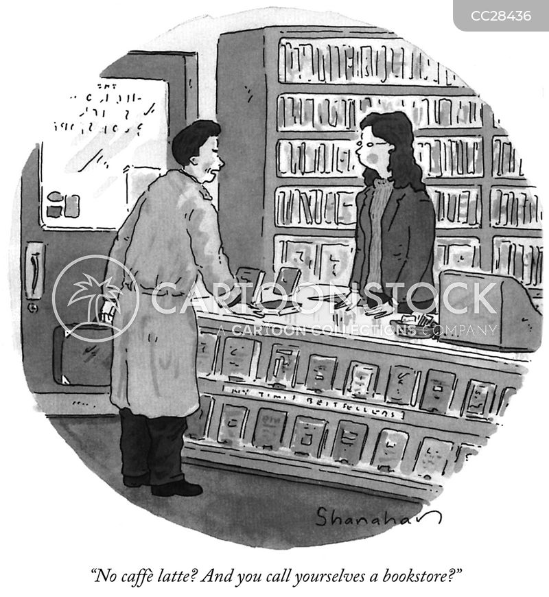 independent bookstore cartoon