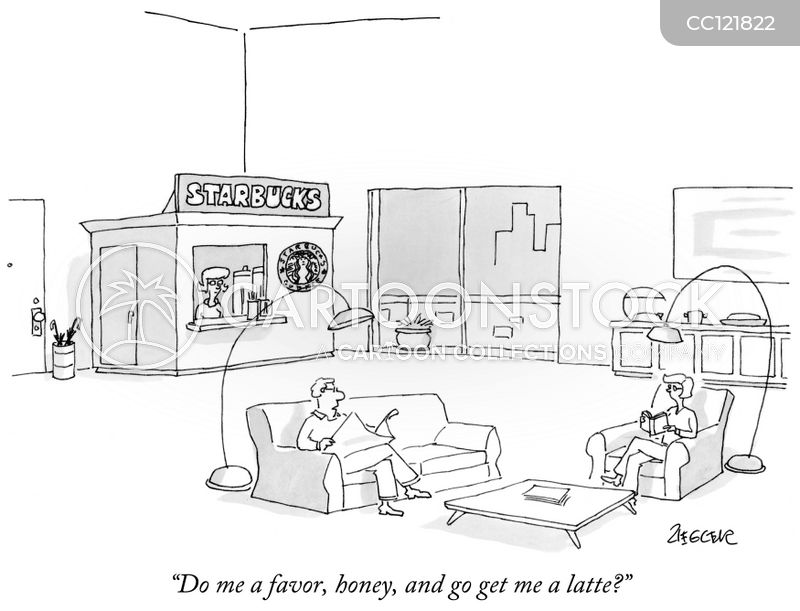 Coffee Shop cartoon