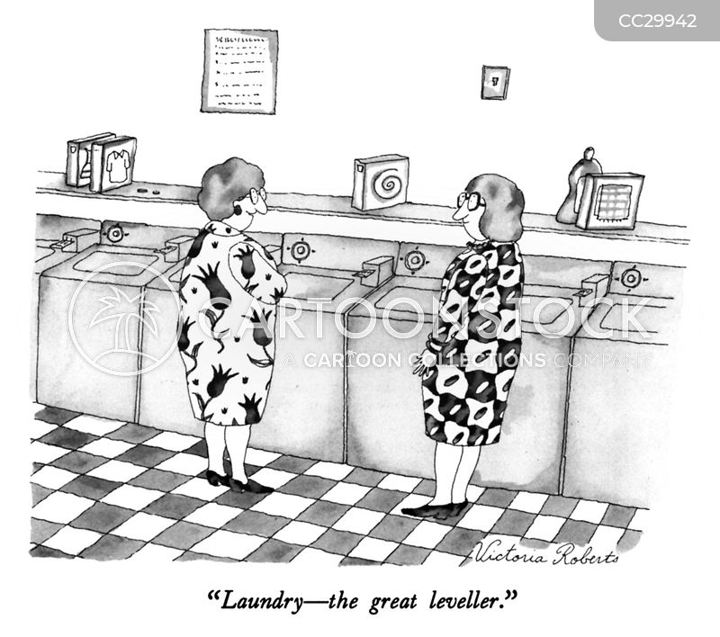 laundries cartoon