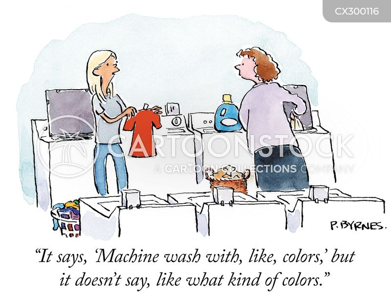 laundry labels cartoon