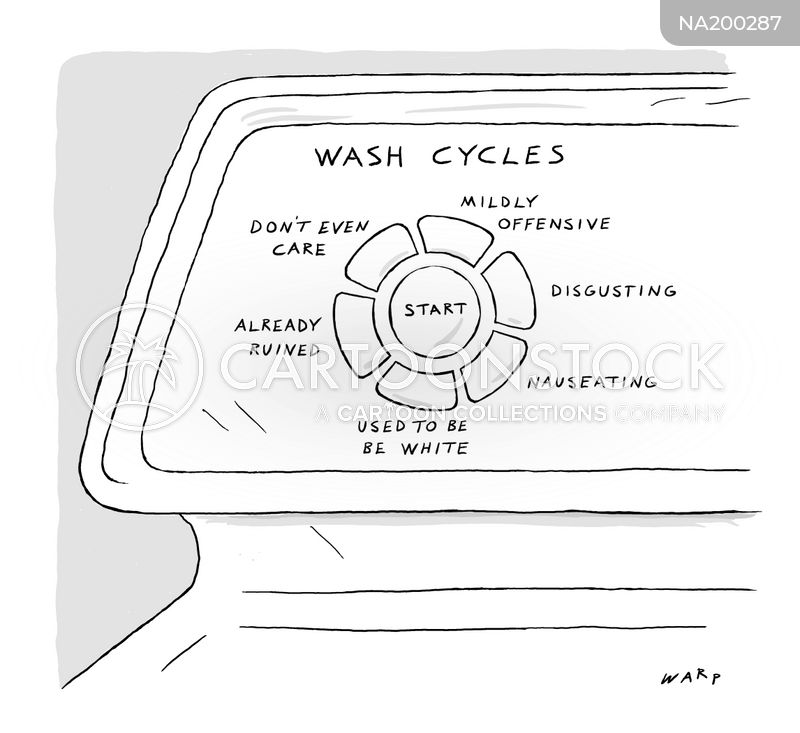 washing machine cartoon