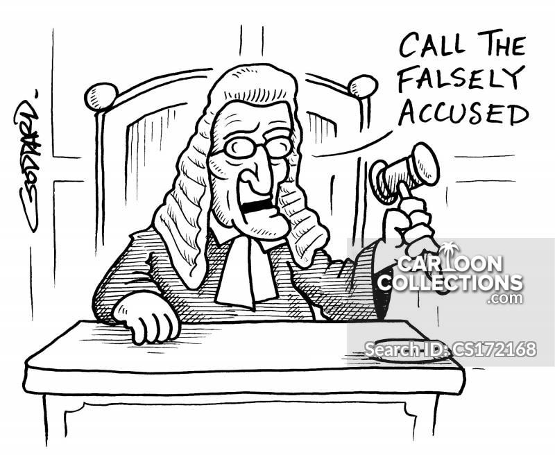 trial by press cartoon