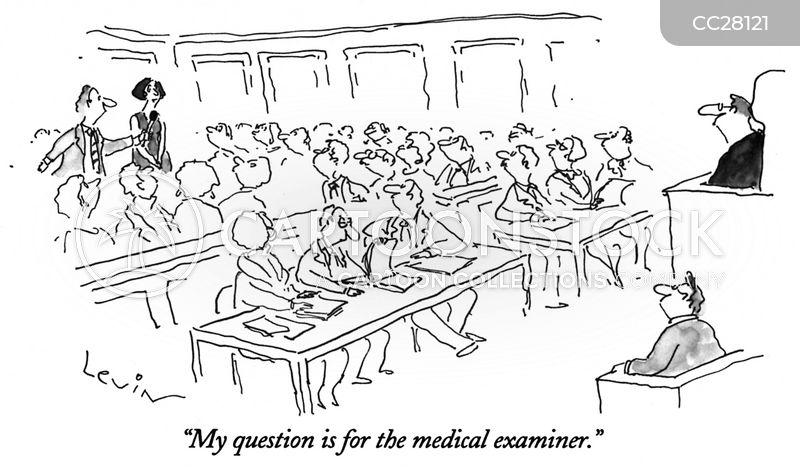 court room cartoon
